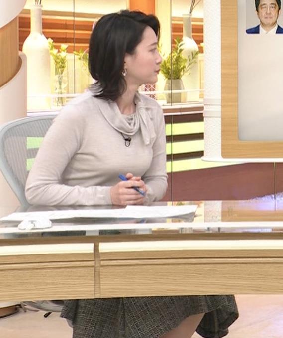小川彩佳 形のいい横乳キャプ・エロ画像2