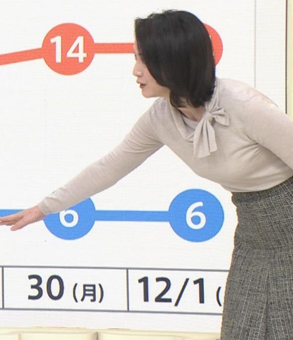 小川彩佳 形のいい横乳キャプ・エロ画像18