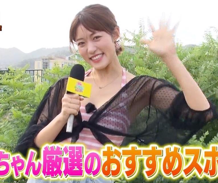 王林 テレビに水着で出て股間をアップで撮られるキャプ・エロ画像2