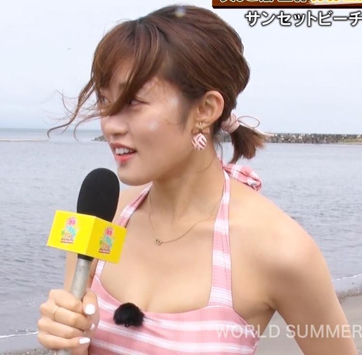 王林 テレビに水着で出て股間をアップで撮られるキャプ・エロ画像14
