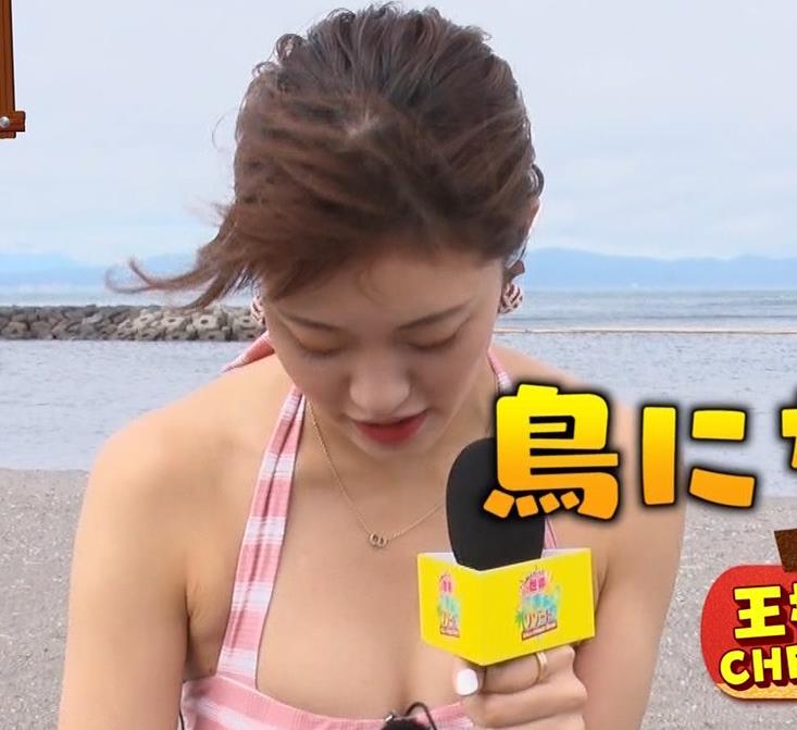王林 テレビに水着で出て股間をアップで撮られるキャプ・エロ画像8