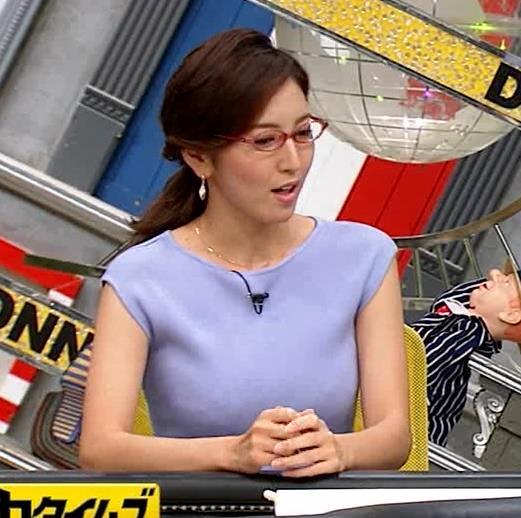 小澤陽子アナ ニットおっぱいキャプ・エロ画像