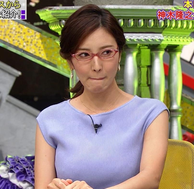 小澤陽子アナ ニットおっぱいキャプ・エロ画像2