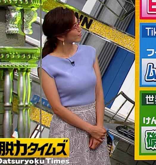 小澤陽子アナ ニットおっぱいキャプ・エロ画像4