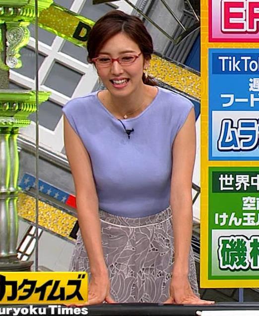 小澤陽子アナ ニットおっぱいキャプ・エロ画像7