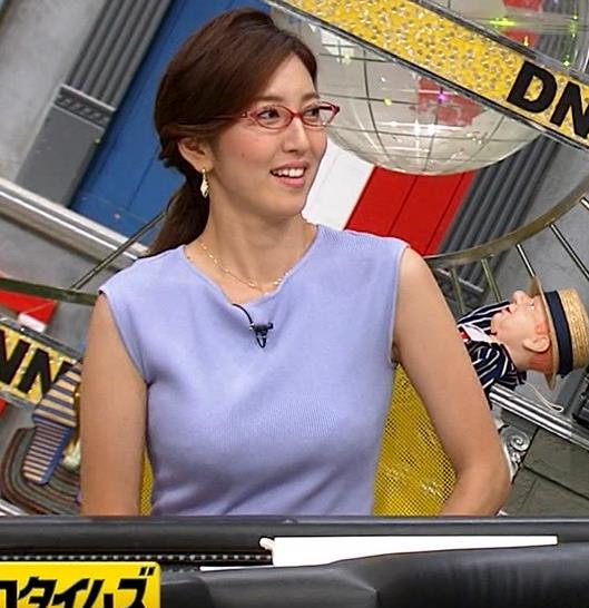 小澤陽子アナ ニットおっぱいキャプ・エロ画像8