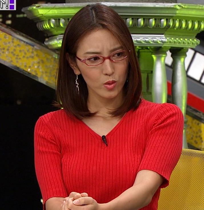 小澤陽子アナ 赤ニットのおっぱいキャプ・エロ画像2
