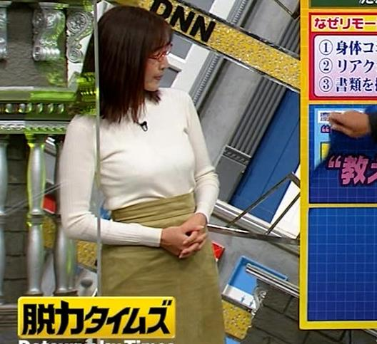 小澤陽子アナ 白ニットのおっぱいキャプ・エロ画像3