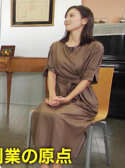 小澤陽子アナ 茶色のワンピースキャプ・エロ画像3