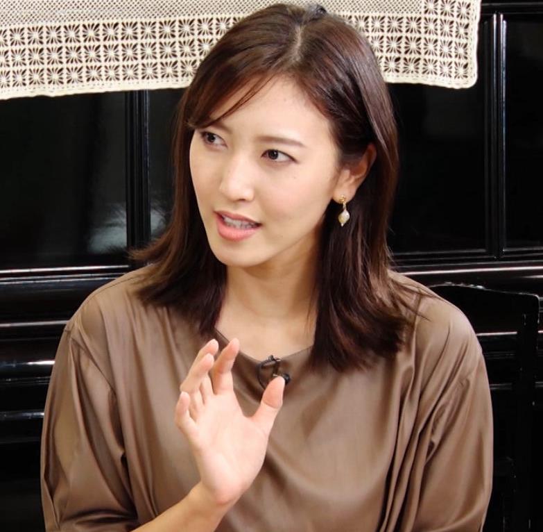 小澤陽子アナ 茶色のワンピースキャプ・エロ画像5