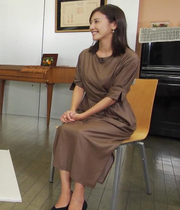小澤陽子アナ 茶色のワンピースキャプ・エロ画像7
