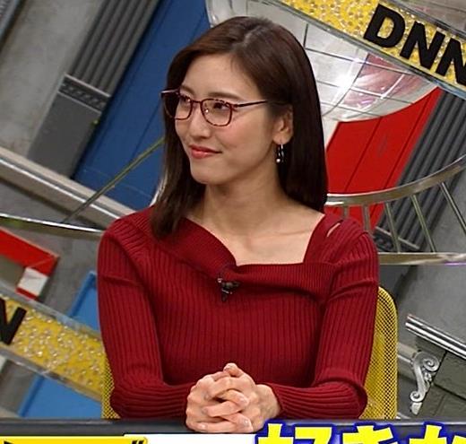 小澤陽子アナ ニット横乳キャプ・エロ画像