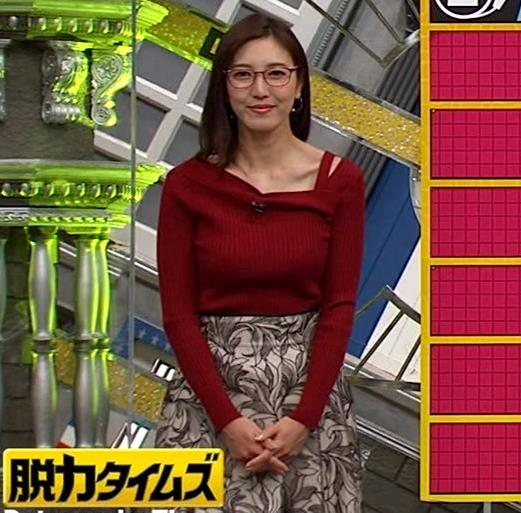 小澤陽子アナ ニット横乳キャプ・エロ画像2