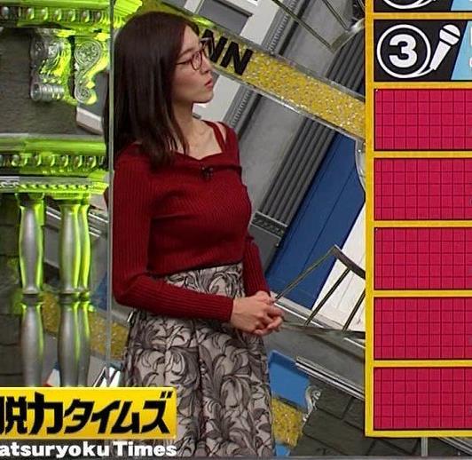 小澤陽子アナ ニット横乳キャプ・エロ画像3