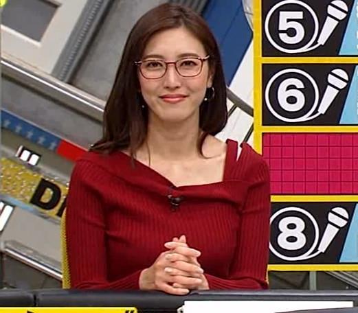 小澤陽子アナ ニット横乳キャプ・エロ画像4