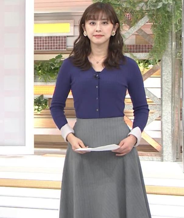 斎藤ちはるアナ タイトめなニットキャプ・エロ画像