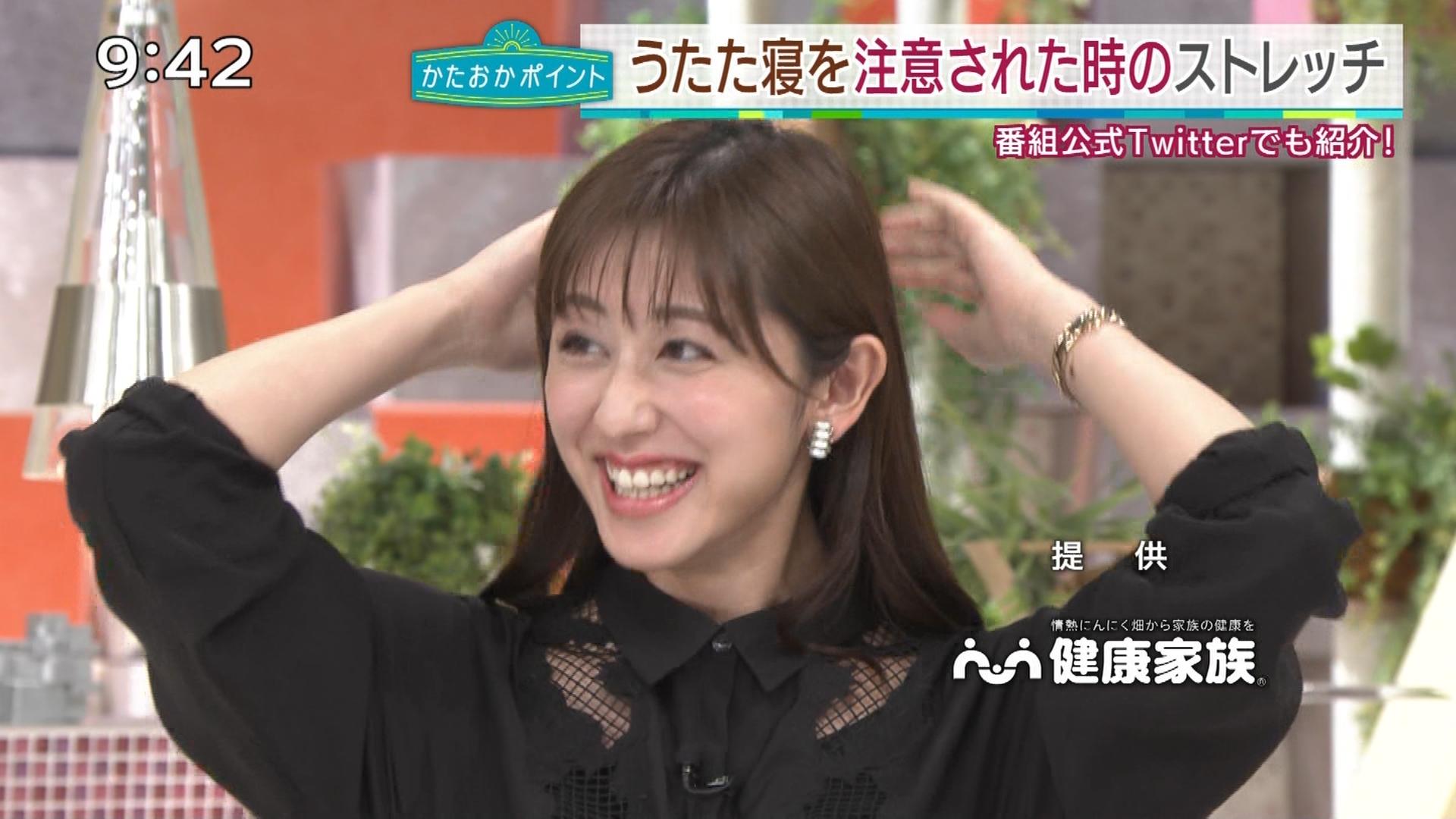 斎藤ちはるアナ 一応、ちょい透け衣装キャプ・エロ画像6