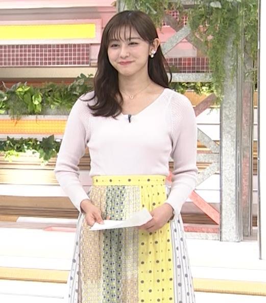 斎藤ちはるアナ 前かがみでちょっと胸元チラキャプ・エロ画像8