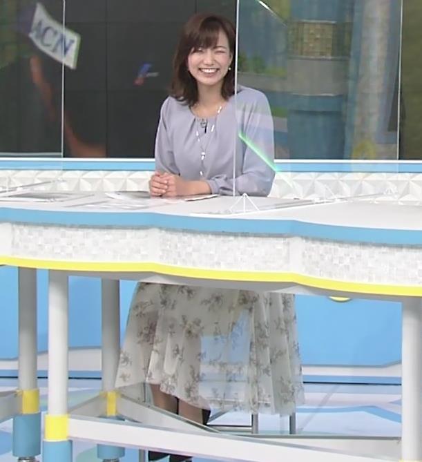 斎藤真美アナ ちょい透けスカートキャプ・エロ画像