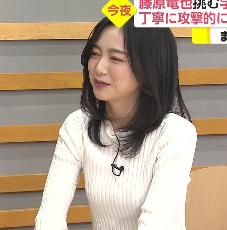佐久間みなみアナ 細身のニット乳♡キャプ・エロ画像
