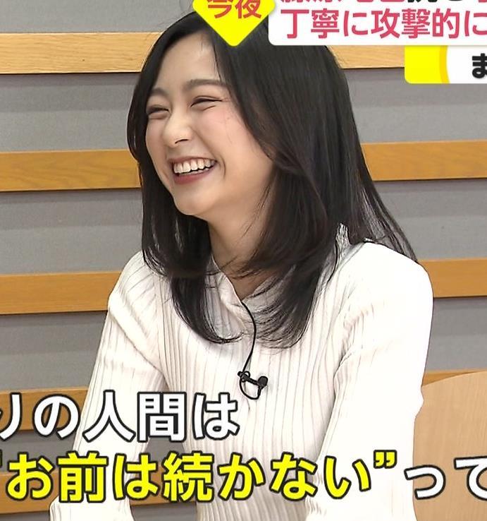 佐久間みなみアナ 細身のニット乳♡キャプ・エロ画像4