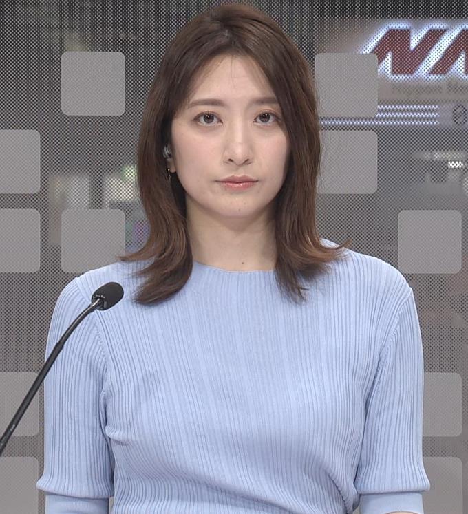 笹崎里菜アナ ニット姿キャプ・エロ画像