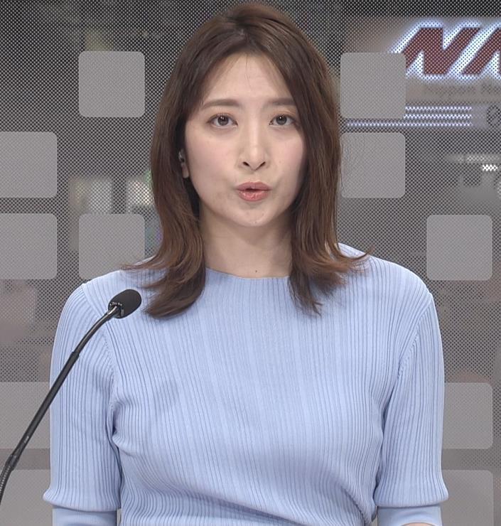 笹崎里菜アナ ニット姿キャプ・エロ画像4