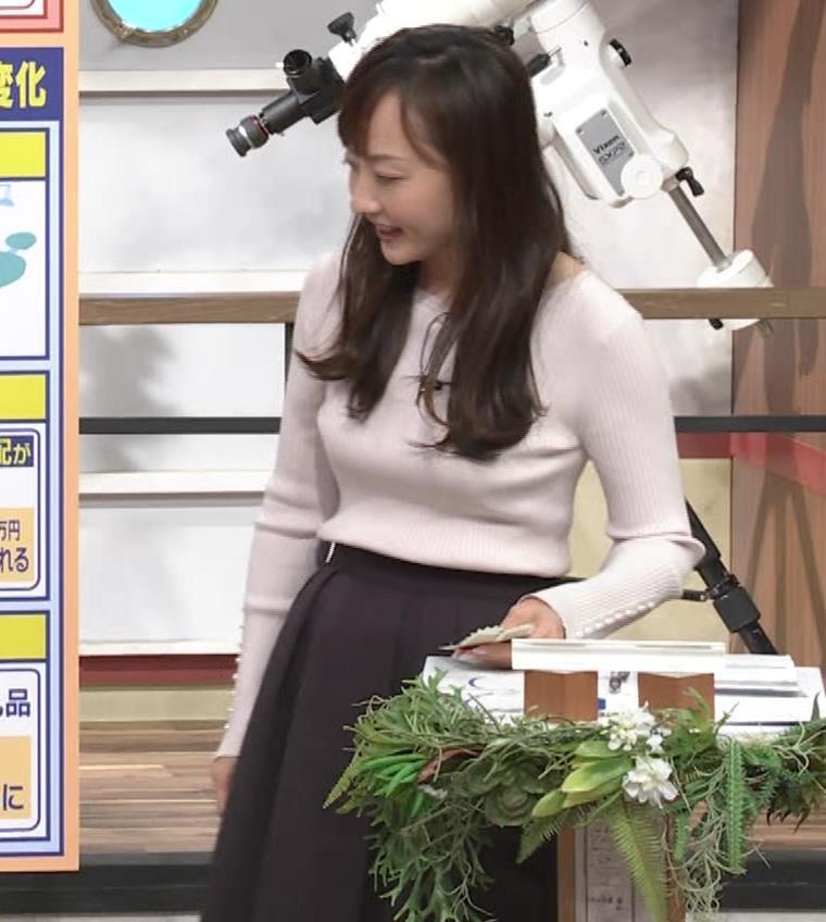 島本真衣アナ ニット巨乳キャプ・エロ画像7
