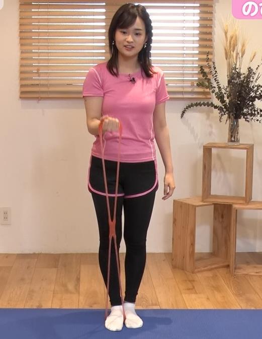 篠原梨菜アナ 巨乳アナ×ピチピチTシャツキャプ・エロ画像
