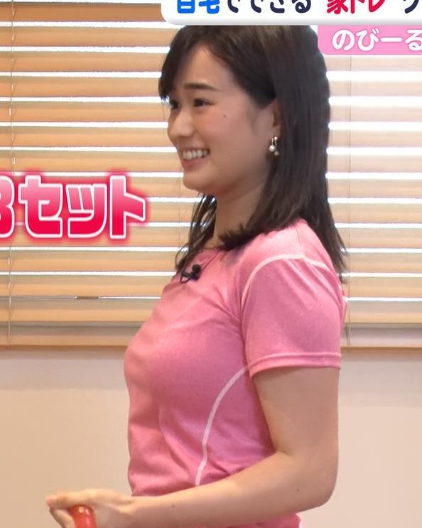 篠原梨菜アナ 巨乳アナ×ピチピチTシャツキャプ・エロ画像4