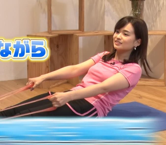 篠原梨菜アナ 巨乳アナ×ピチピチTシャツキャプ・エロ画像8
