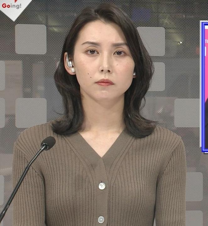 杉野真実アナ ニットおっぱいキャプ・エロ画像2