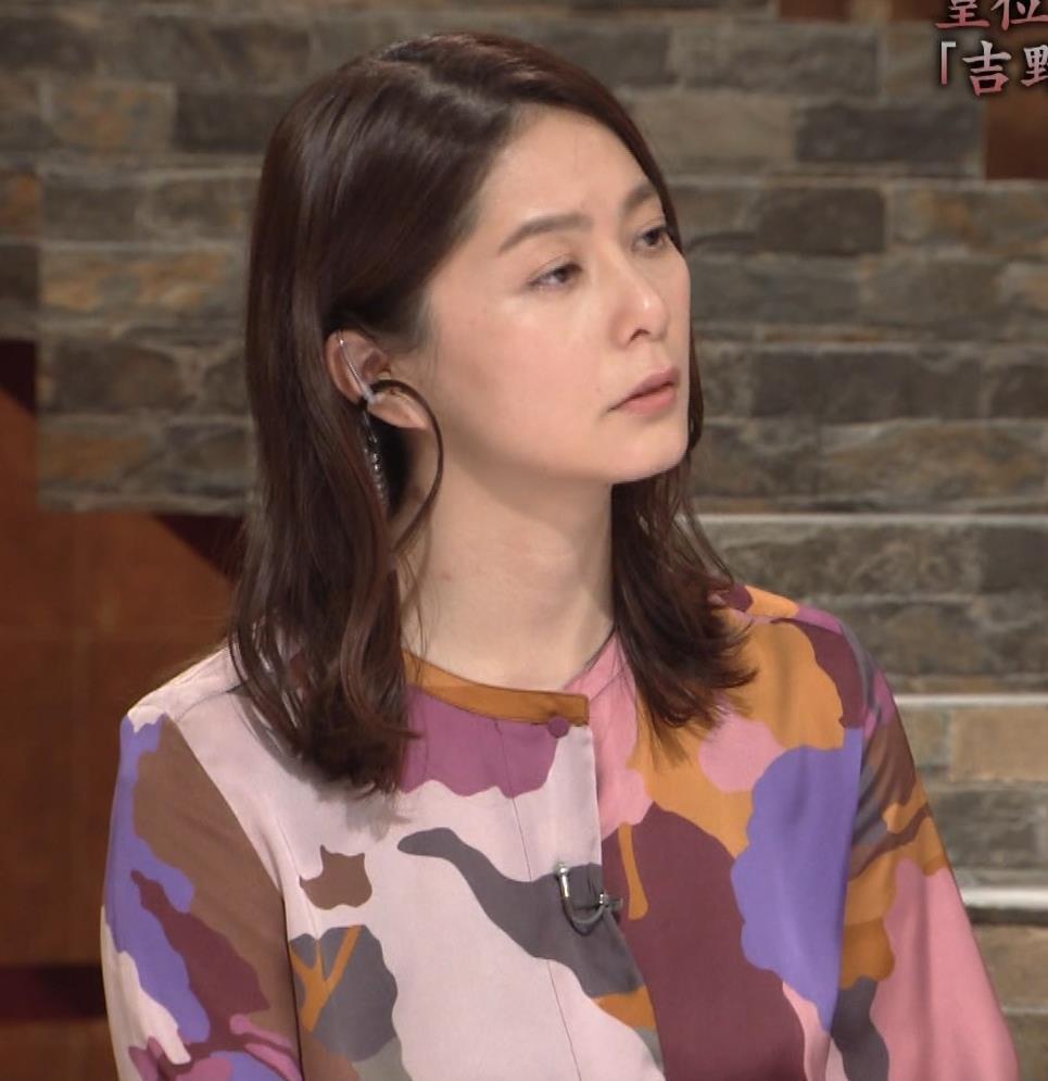 杉浦友紀アナ ゆったりした服でも巨乳が主張してるキャプ・エロ画像11