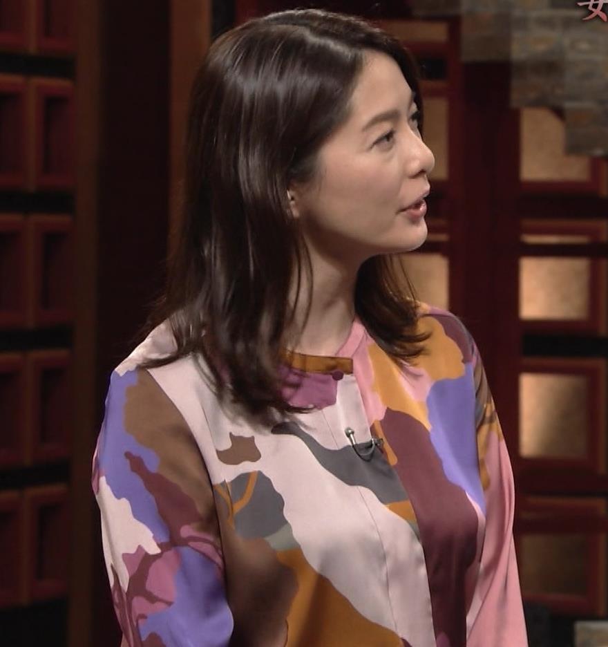杉浦友紀アナ ゆったりした服でも巨乳が主張してるキャプ・エロ画像5