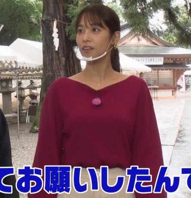 鷲見玲奈 胸を突き出す横乳キャプ・エロ画像7