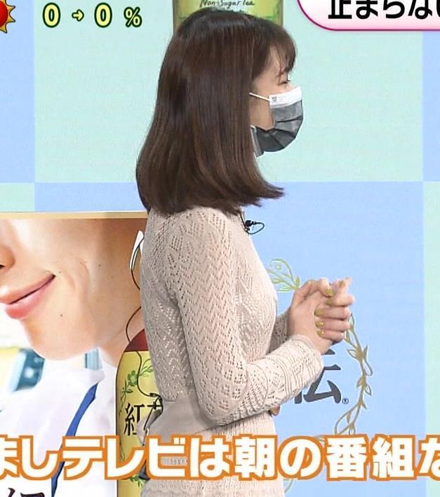鈴木唯アナ くっきり横乳キャプ・エロ画像