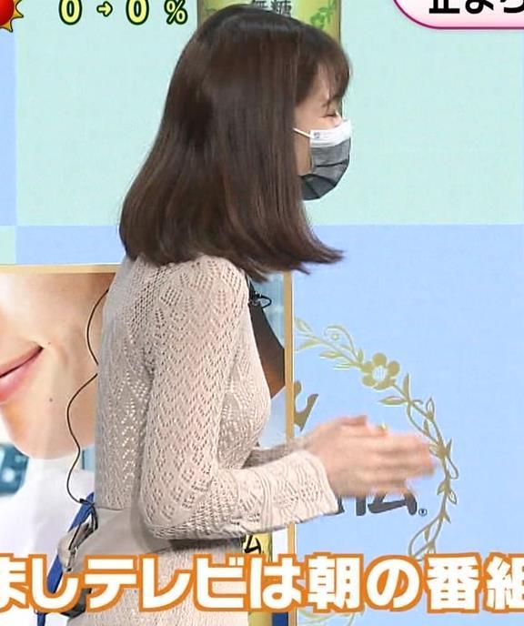 鈴木唯アナ くっきり横乳キャプ・エロ画像2