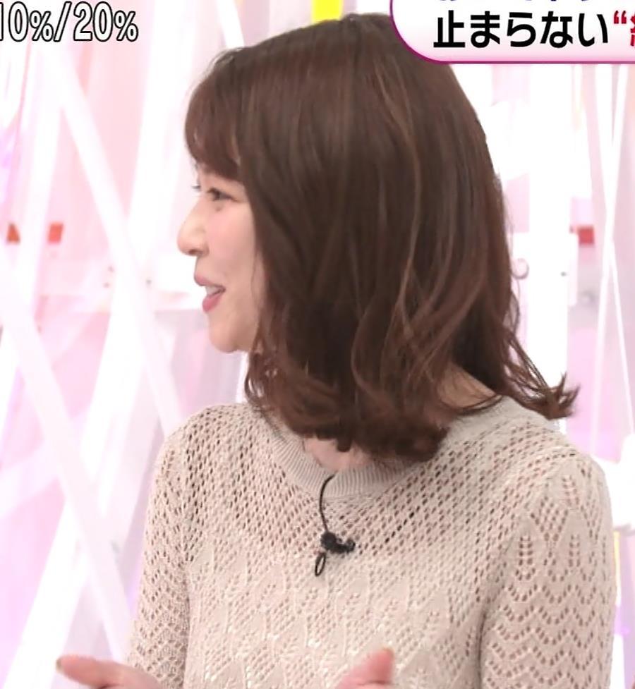 鈴木唯アナ くっきり横乳キャプ・エロ画像5