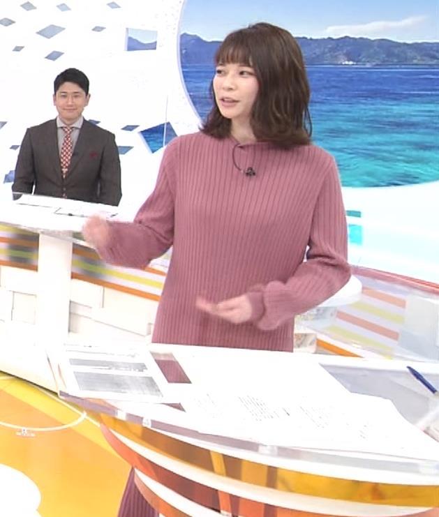 鈴木唯アナ ニットのワンピース姿キャプ・エロ画像4