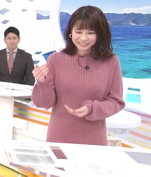 鈴木唯アナ ニットのワンピース姿キャプ・エロ画像5