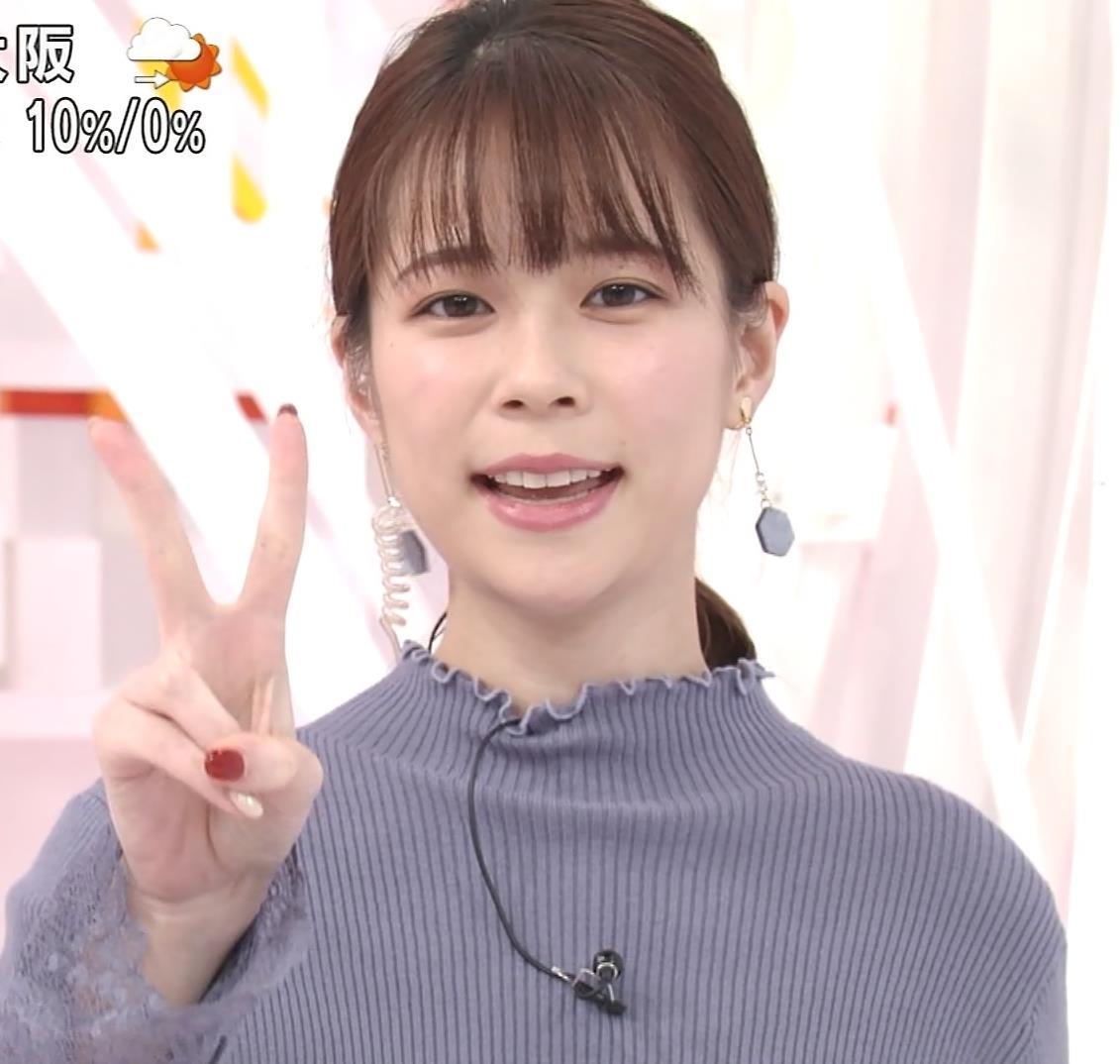 鈴木唯アナ ニットおっぱいキャプ・エロ画像2