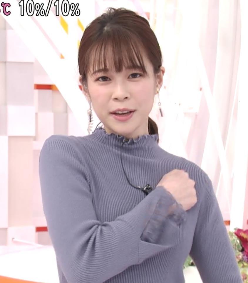 鈴木唯アナ ニットおっぱいキャプ・エロ画像4