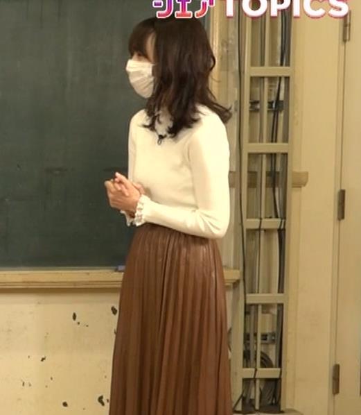高見侑里 ニット横乳キャプ・エロ画像