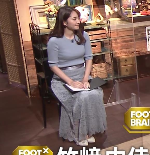 竹崎由佳アナ とてもいい感じのニットおっぱい♡キャプ・エロ画像
