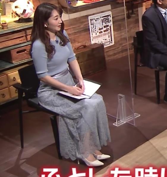 竹崎由佳アナ とてもいい感じのニットおっぱい♡キャプ・エロ画像11
