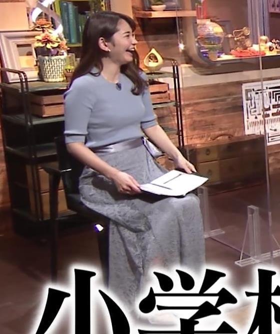 竹崎由佳アナ とてもいい感じのニットおっぱい♡キャプ・エロ画像12