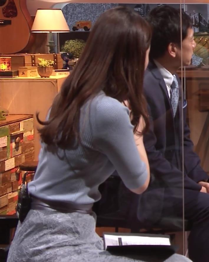 竹崎由佳アナ とてもいい感じのニットおっぱい♡キャプ・エロ画像4
