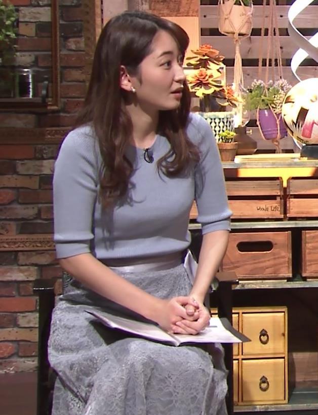 竹崎由佳アナ とてもいい感じのニットおっぱい♡キャプ・エロ画像5