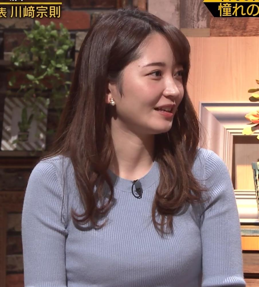 竹崎由佳アナ とてもいい感じのニットおっぱい♡キャプ・エロ画像6