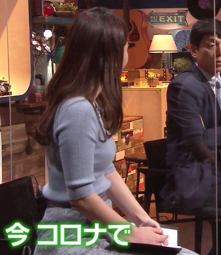 竹崎由佳アナ とてもいい感じのニットおっぱい♡キャプ・エロ画像7
